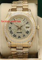 los hombres de diamantes reloj automático del reloj de 41 mm piedras caso bisel de oro y diamantes en medio de la pulsera de línea multicolor de relojes de alta calidad