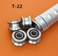 20 قطعة / الوحدة t22 t الأخدود البكرة اضعا الكرة t22 t الأخدود الأسطوانة عجلة تحمل 8 * 22.5 * 14.5 * 13.5 ملليمتر