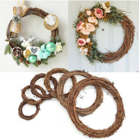 Wedding decoration wreath natural rattan wreath DIY crafts home door decoration Christmas gift party decorations XD22257