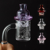 Pattern 4mm Quartz Banger carb cap & dab terp pearls insert ...