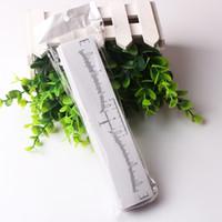 100 pcs Descartável Sobrancelha Régua Adesivo Adesivo Sobrancelha Medição Template Stencil Sobrancelha Microblading Ferramenta para Iniciante