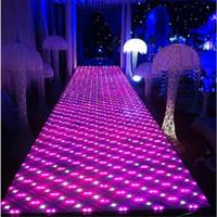 Di trasporto 60 * 60 centimetri lustro stazione T LED flash Specchio Tappeto Aisle Runner Bar Club Wedding la decorazione fase puntelli nuovo arrivo