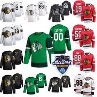 2020 Chicago Blackhawks de hockey jerseys de las Estrellas de las mujeres 39 T. J. Brennan Patrick Kane Jonathan Toews Duncan Keith Alex DeBrincat Custom Stitch