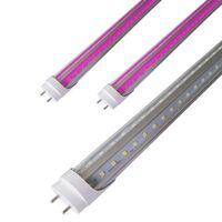 T8 T12 HO 2FT 3FT 4ft LED Wachsen Licht Rohr für Keimung Microgreens, Sonne Rosa Weiß Vollspektrum mit UVA, V Förmigen 270 Grad Strahl