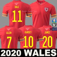 Euro 2020 de football maillot du Pays de Galles loin Coupe d'Europe jaune 20 21 BALE ALLEN équipe masculine nationale James Davies Wilson enfants chemise de football maillot manches courtes