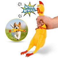 2020 Hot Sell Screaming Chicken Pets Dog Toys Squeeze Squeak...