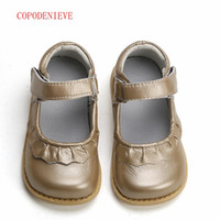 COPODENIEVE girls shoes genuine leather black mary jane with...