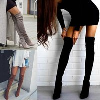 new woman boots autumn winter over the knee boots thin high ...