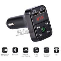 40pcs CAR B2 multifunzione Bluetooth Transmitter 2.1A doppio USB caricabatteria da auto FM MP3 Player Car Kit di sostegno TF Handsfree