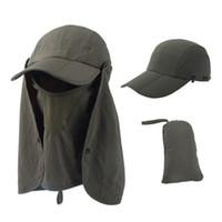 Pescador al aire libre Protección UV Puerto de protección Senderismo Visera Sombrero para el alpinismo Visera Cara tapa de secado rápido LJJJ156