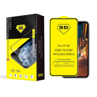 9D Tam Kavisli cam iPhone için 11 Pro MAX XR Tam Tutkal Ekran Koruyucu temperli cam için Samsung S10E A10 A30 A70 Perakende Paketi ile