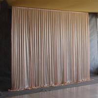 Teli di seta trasparente Pannelli Tende appese Fondale per feste Decorazione per matrimoni Drappeggio Grandi eventi Sfondo Panno 5 Colori 2.4X1.5m