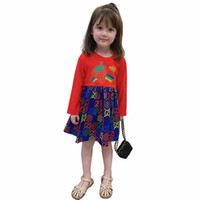2020 fall new girls dress long sleeve cotton children clothi...