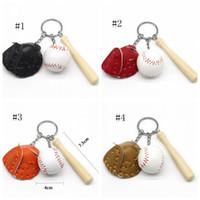 Baseball Keychain Baseballschlüssel Ketten Sport Spiel Souvenir Mode Männer Outdoor Rucksack Anhänger Frauen Tasche Dekorationen Party Favorie DSL-YW2920