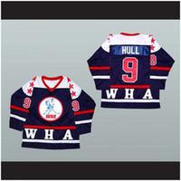 Men personnalisé XS-5XL Bobby Hull Wha Hockey Jersey Point cousu n'importe quel joueur ou numéro Livraison gratuite