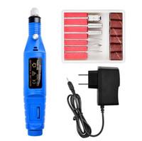 متعدد الألوان مسمار الفن المعدات أداة مصغرة آلة تلميع الأظافر الكهربائية القلم من نوع الملمع مسمار كهربائي إلى الجلد الميت 10