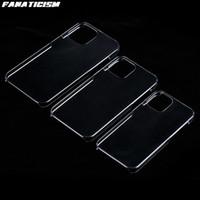Toptan Sert Plastik Parlak Temizle Telefon Kılıfları Için iPhone12 Mini 12 Pro Max PC Şeffaf Arka Kapak iphone 12mini 12pro
