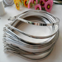 3mm 5mm 7mm DIY Metal Bands Hair Bandeau Bandeau de Cheveux Bandes de bricolage Hair Hoops Pour Bijoux Girls Headwear 20pcs / Lot En Gros