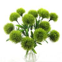 Simulación de diente de león Flores para solo tallo de la planta artificial de plástico floral Decoraciones jardín de la boda de mesa Centros de mesa