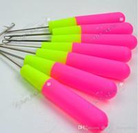 Enganche agujas para tejer jumbo pelo trenzas profesionales extensiones de cabello herramientas de pelo tamaño grande 15 cm más vendido