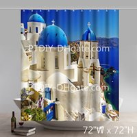 Custom Places of Interest East Mediterranean Polyester Fabri...