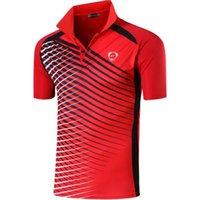 Masculinos jeansian Esporte Tee Polo POLO Poloshirts Golf Tennis Badminton Dry Fit manga curta LSL243 Red2 T200528