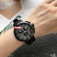 Новый список мужские спортивные наручные часы из нержавеющей стали корпус часы водонепроницаемые резиновые ремешок часы многофункциональные кварцевые часы с механизмом движения
