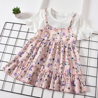 Girls Fashion Dresses 2019 Summer New Cute Floral Pattern Dr...