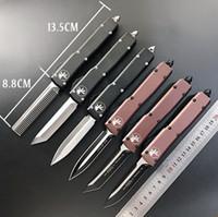 Otomatik Micro-Tech UTX-85 Çift Eylem Otomatik Bıçak CNC Eylem Taktik Kesici Dişli Bıçaklar D2 Blade Taktik Bıçak EDC Cep Knifes