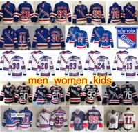 뉴욕 레인저스 유니폼 하키 미카 Zibanejad Kaapo Kakko Henrik Lundqvist Mark Messier Chris Kreider Wayne Gretzky Brady Skjei Kevin Hayes