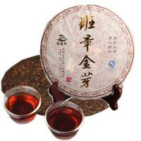 Hot cuit Pu'er thé Ripe Gâteau Banzhang d'or noir Bud Puer Shu Cha Seven Son gâteau thé