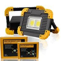 Tragbare Laternen Scheinwerfer Arbeitslicht Wasserdichte Laterne LED USB Wiederaufladbare Flut 4 Modi Outdoor 18650 Batterie