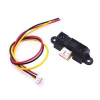 1set capteur Sharp GP2Y0A21YK0F mesure IR Distance de détection de 10 à 80 cm par câble