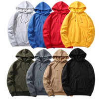 Men' s Autumn Casual Thin Solid Hip Loose Fit Fleece Lon...