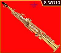 Profesyonel Japonya YANAGISAWA S991, S-W010 B (B) durumda mouthpiec serbest Denizcilikte ile Bölünmüş Soprano saksofon Altın Vernik saksafon müzik aletleri