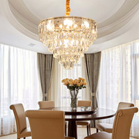 Современная роскошь творческий кристалл кулон освещение люстры хрустальные люстры лампы золотые подвесные светильники для столовой спальня