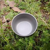 Titan Pot Titan-Wasser-Becher-Cup-Runde Wein-Schalen-Outdoor-Camping-Pot Kochtöpfe Picknick New 2018
