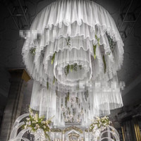 use for hangging only )Roman Style Luxury wedding decorations stage string column backdrop for your party best0552