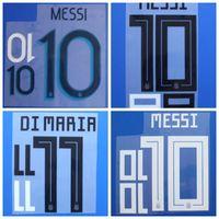 Souvenirs 2018 2019 2020 Argentine DYBALA KUN AGUERO DI MARIA MESSI MASCHERANO Police de football Nom Numéro Impression badges, Badges de football