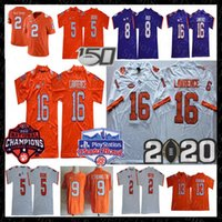 NCAA Clemson Tigers Trevor Lawrence Jersey Travis Etienne Jr Sammy Watkins Tee Higgins Justyn Ross Hunter Renfrow 2020 150TH Fiesta Bowl