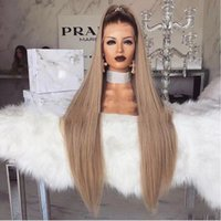 New Cosplay Highlight Wigs Black Blonde Long Silky Straight ...