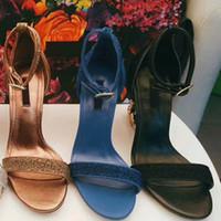 High Heels Sandalen für Damen, Lederpumps aus echtem Leder mit barock geformten Absatzsandalen GRÖSSE; 34-41