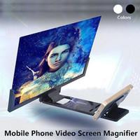3D شاشة الهاتف المحمول المكبر HD مكبر للصوت الفيديو للهواتف الذكية الوقوف تكبير