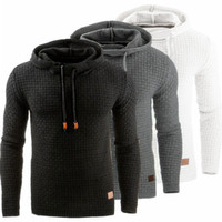 High Street Mens Hoodies Designer Solid Color Pullover Casual Long Sleeve Hooded Sweatshirt Spring Autumn Male Clothes