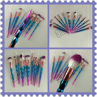Newest Rainbow Diamond Makeup Brushes Set 12pcs Colorful Bru...