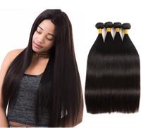 VIYA 9A العذراء الشعر ملحقات حريري مستقيم نمط حزم الشعر البرازيلي يمكن أن تلتزم وألوان 4pcs / lot