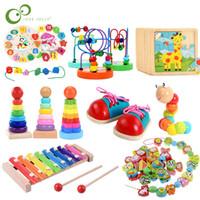 Bebek Eğitici Tuğlalar Blokları Ahşap Montessori Erken Öğrenme Oyuncak Doğum Noel Yılbaşı Hediye İçin Çocuk