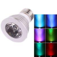 في الأماكن المغلقة LED الضوء LED لمبات الإضاءة E27 3W 85V-265V 16 لون التحكم عن بعد LED أضواء كاشفة داخلي