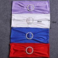 Эластичные свадебные чехлы на стулья ленты для галстуков-бабочек для свадьбы вечеринка по случаю дня рождения пряжка стула пояса бантом украшения цвета доступны DH0682