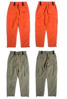 بنطلون للرجال شارع العليا متعدد الألوان جيب فضفاضة النسخة عارضة السراويل وزرة السراويل الشباب المد البرية الذكور الرياح